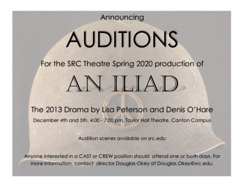 Auditions for An Iliad Dec. 4 and 5