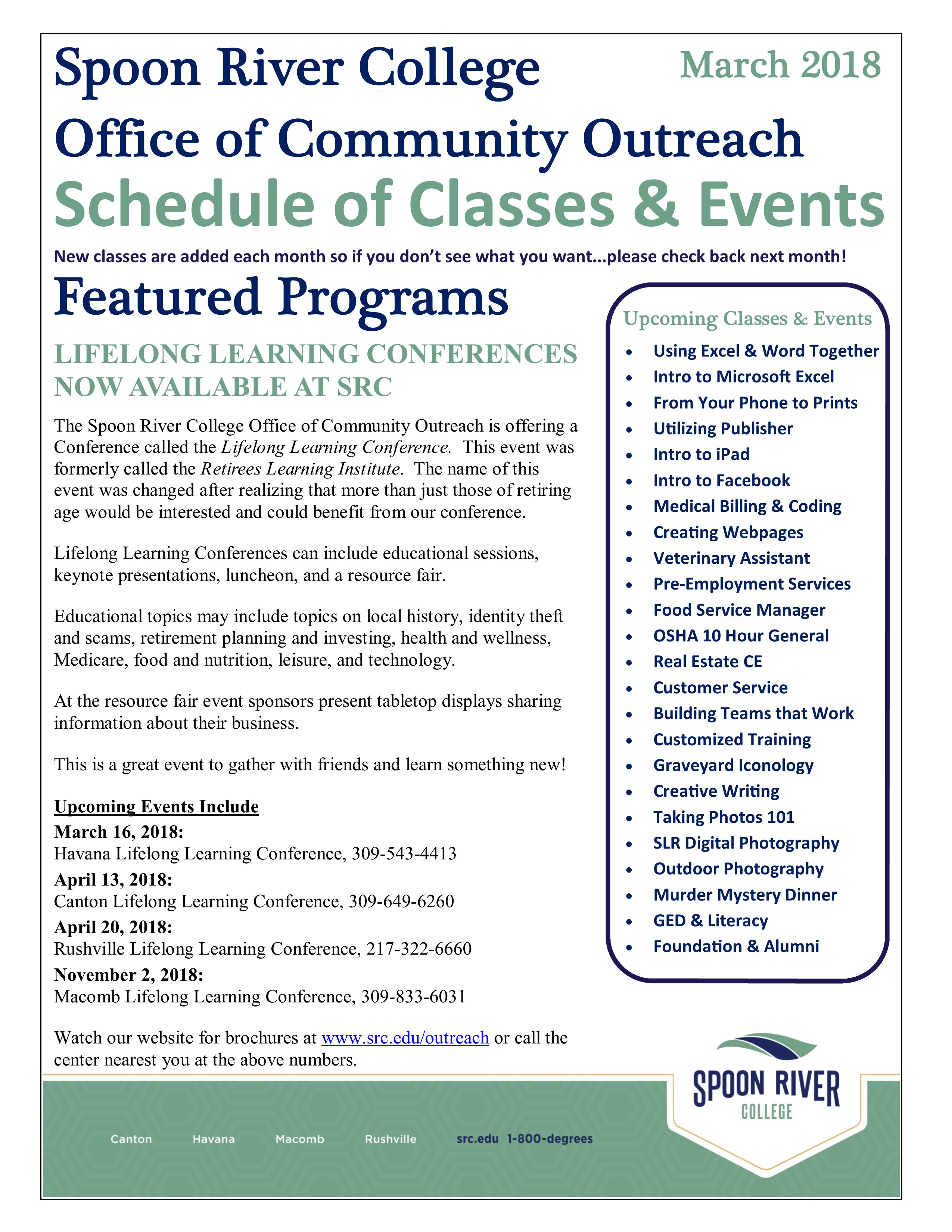 Classes events src march 2018 newsletter schedule 1betcityfo Images