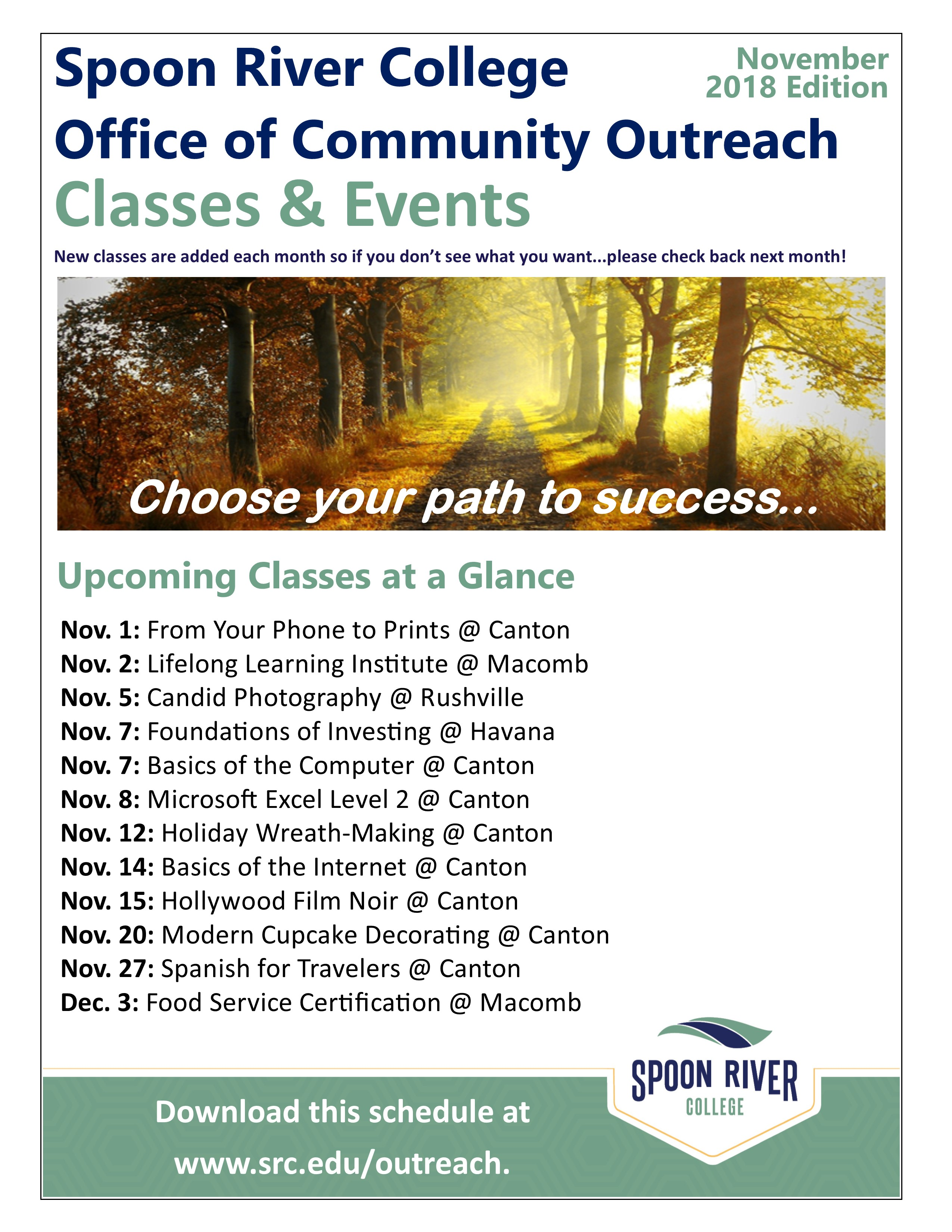 Community outreach schedule
